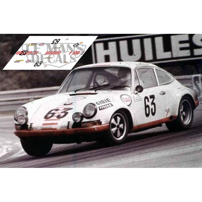 Porsche 911s Le Mans 1971 N 186 63 Lemansdecals