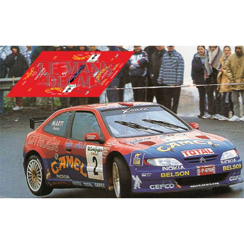 citro n xsara kit car rally canarias 1999 n 2 lemansdecals. Black Bedroom Furniture Sets. Home Design Ideas