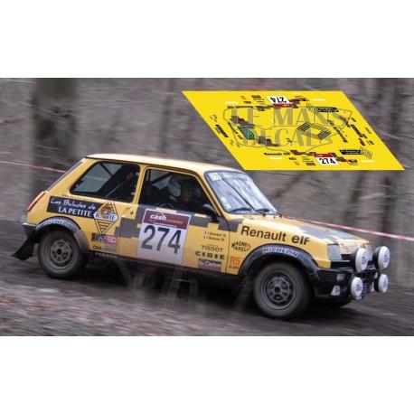 Renault 5 Alpine - Boucles de Spa 2014 nº274