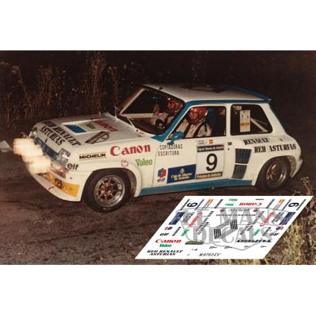 Renault 5 Turbo - Rally Asturias 1984 nº 9