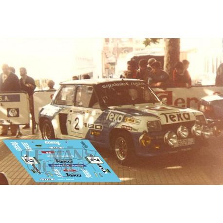Renault 5 Turbo - Rally Torrelavega 1983 nº 2
