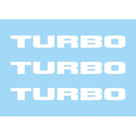 Renault Turbo blanco (x3)