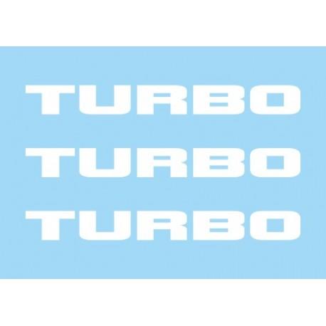 Renault Turbo White (x3)