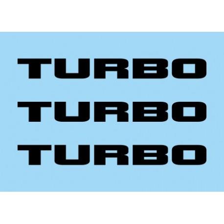 Renault Turbo negro (x3)