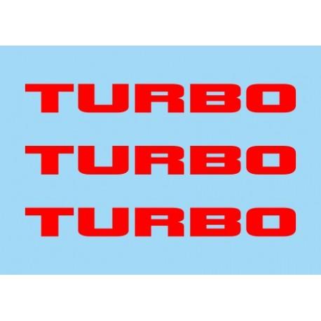 Renault Turbo Rojo (x3)