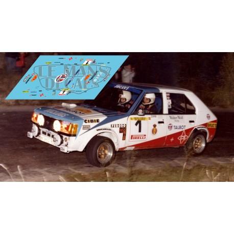 Talbot Horizon - Rally 2000 Virages 1981 nº1