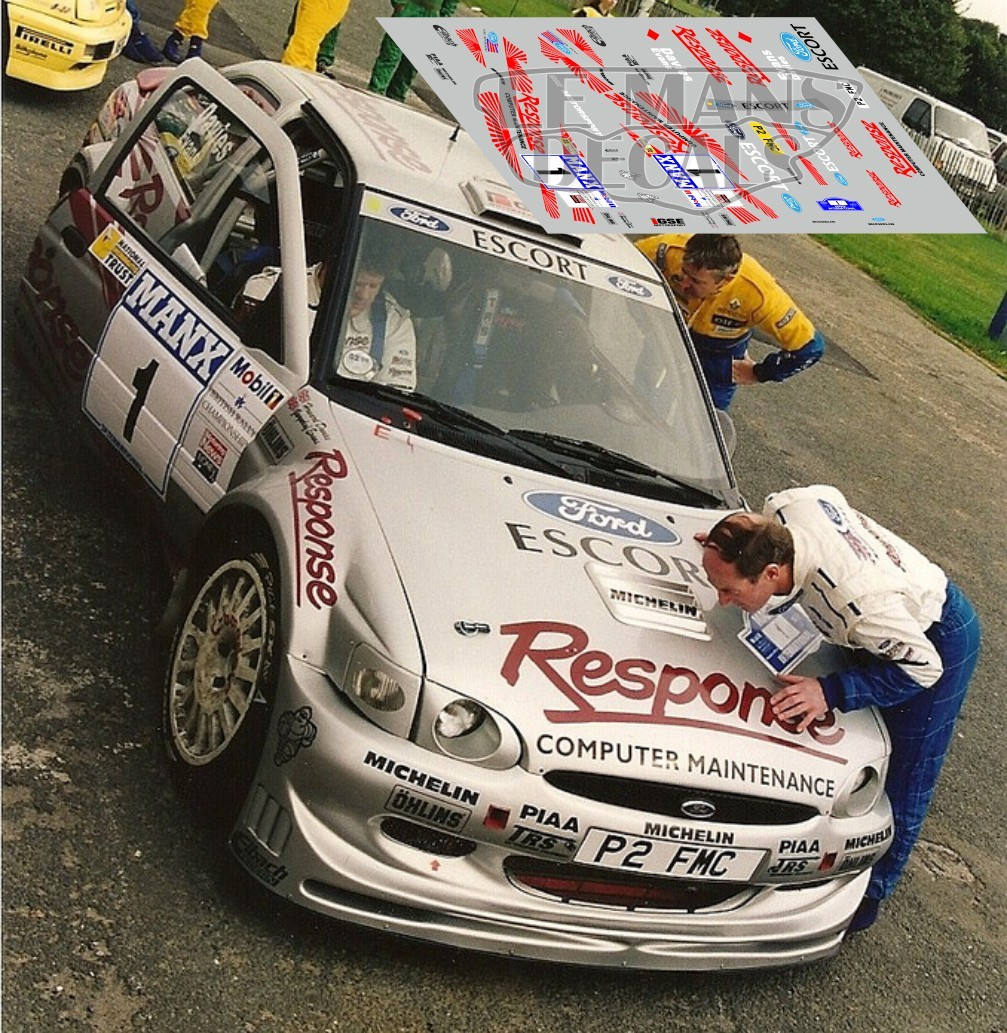 Ford Escort Maxi Kit Car - Rally Manx 1997 nº1 - LEMANSDECALS
