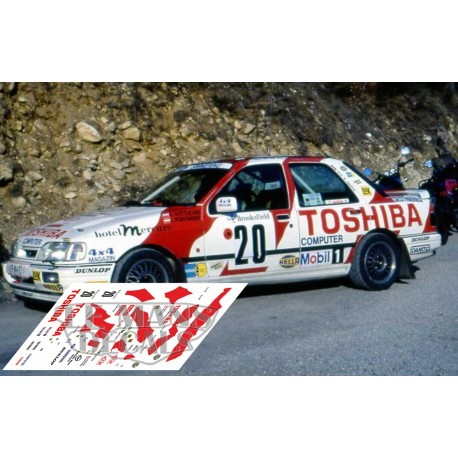 Ford Sierra Cosworth - Rallye Montecarlo 1991 nº20
