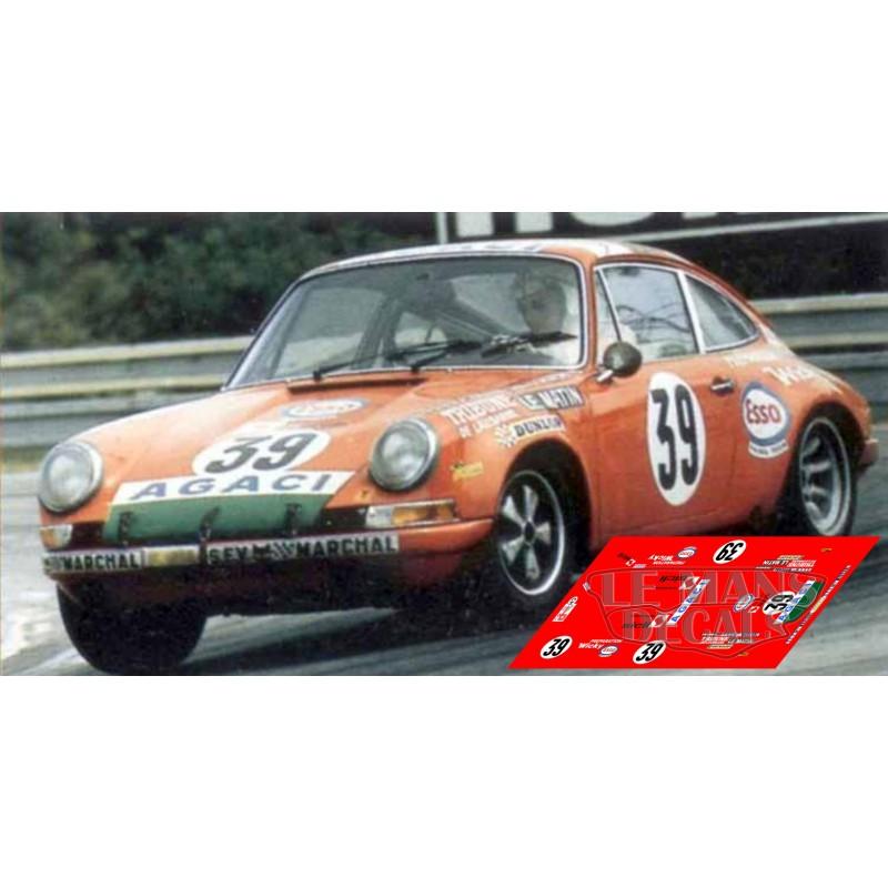 Porsche 911s Le Mans 1971 N 186 39 Lemansdecals