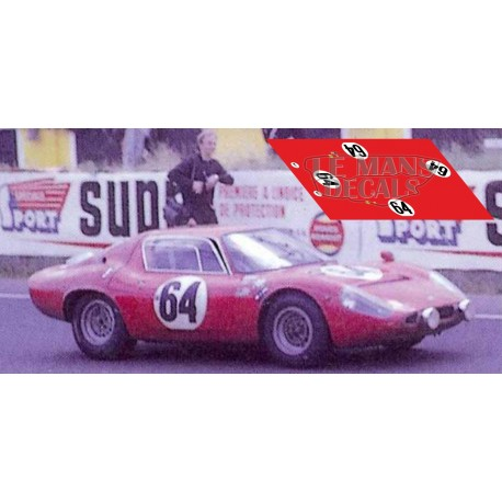 Abarth 1300 OT - Le Mans 1967 nº64