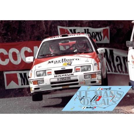 Ford Sierra Cosworth - Rally El Corte Inglés 1988 nº2