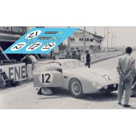 Aston Martin DB4 GT Zagato - Le Mans 1962 nº12