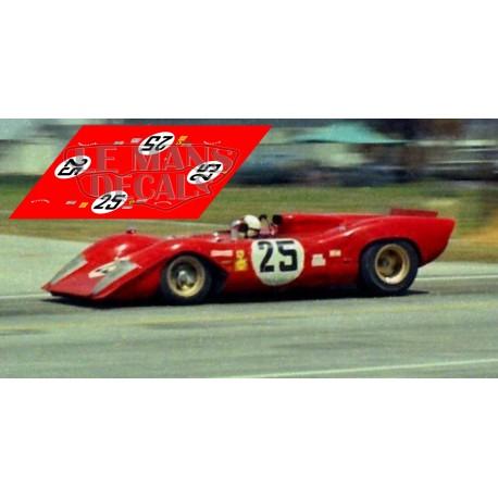 Ferrari 312P - 12h Sebing 1969 nº25