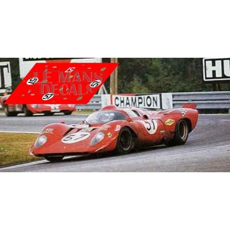 Ferrari 312P - Le Mans 1970 nº57