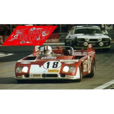 Alfa Romeo T33 TT3  - Le Mans 1972 nº18