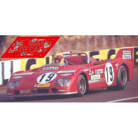 Alfa Romeo T33 TT3  - Le Mans 1972 nº19