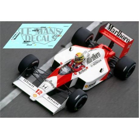 McLaren MP4/4 - GP Monaco 1988 nº12