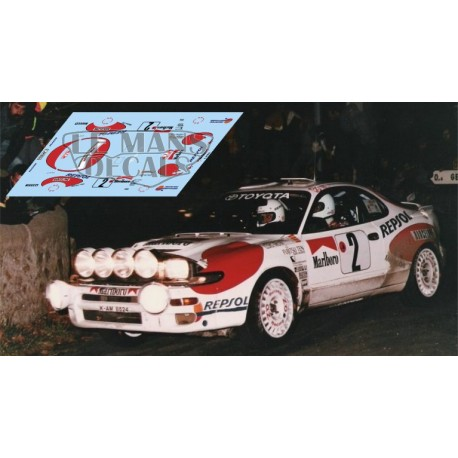 Toyota Celica ST185 - Rallye Montecarlo 1992 nº2