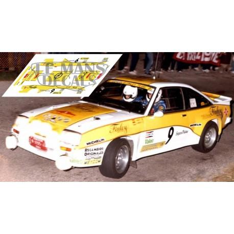 Opel Manta 400 - Rallye Cataluña nº9