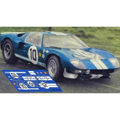 Ford GT40 - Test Le Mans 1965 nº 10