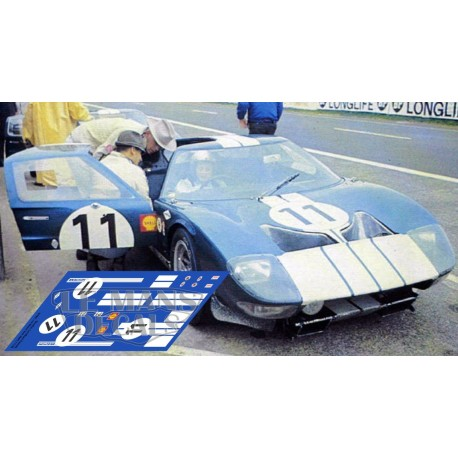 Ford GT40 - Test Le Mans 1965 nº 11