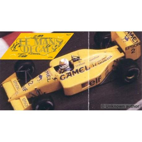Lotus 100T NSR Formula  Slot - GP Monaco 1988 nº2