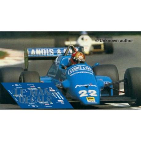 Osella F1AF NSR Formula Slot - GP Italia 1986 nº22