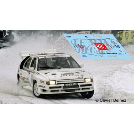 Citroën BX 4TC - Swedish Rallye 1986 nº10