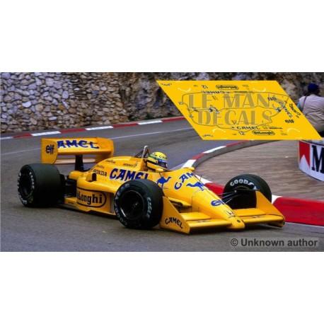 Lotus 99T  - GP Monaco 1987 nº12