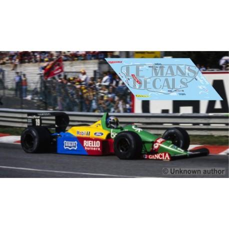 Benetton B188 NSR Formula  Slot - Belgium GP 1988 nº19