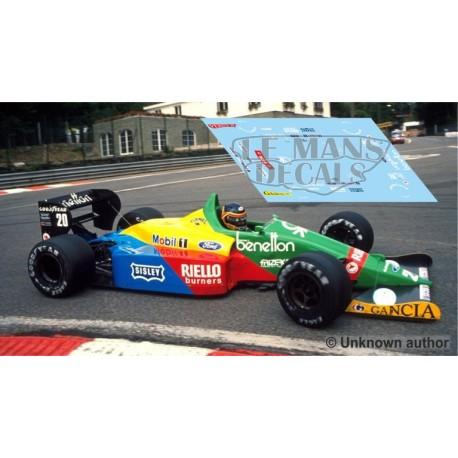 Benetton B188 NSR Formula  Slot - Belgium GP 1988 nº20