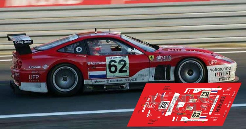 Ferrari 575 Gtc Le Mans 2004 N62 Lemansdecals