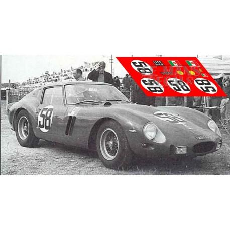 Ferrari 250 GTO - Le Mans 1962 nº58