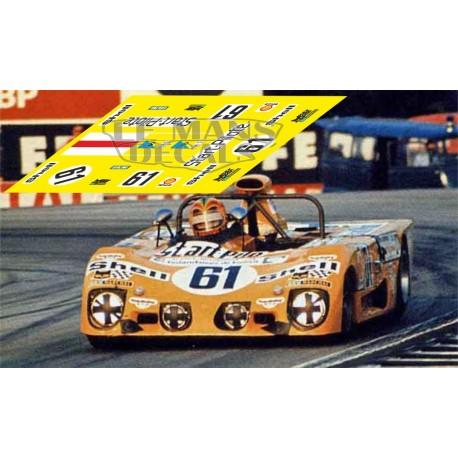Lola T282 - Le Mans 1973 nº 61