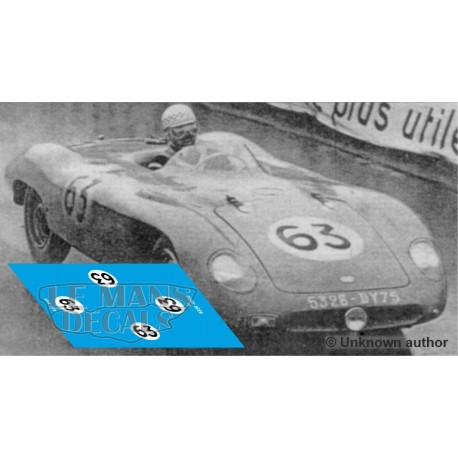 DB Deutsch Bonnet HBR  - Le Mans 1955 nº63