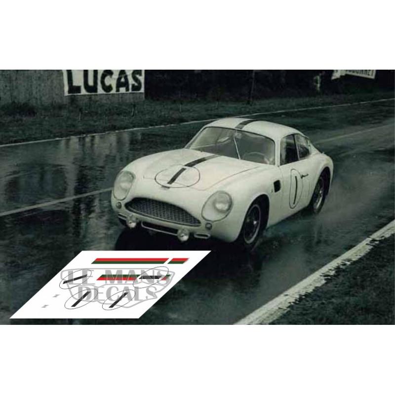 Aston Martin Db4 Gt Zagato Le Mans 1961 N 186 1 Lemansdecals