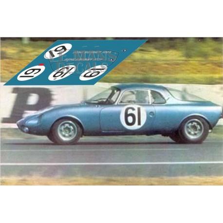 Rene Bonnet Djet - Le Mans 1962 nº61