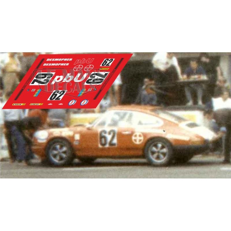 Porsche 911s Le Mans 1970 N 186 62 Lemansdecals