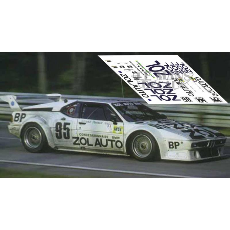 Bmw M1 Le Mans 1980 N 186 95 Lemansdecals