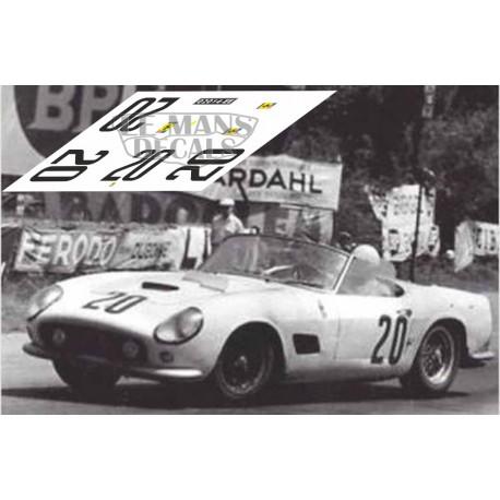 Ferrari 250 Gt California Swb Le Mans 1960 Nº20 Lemansdecals