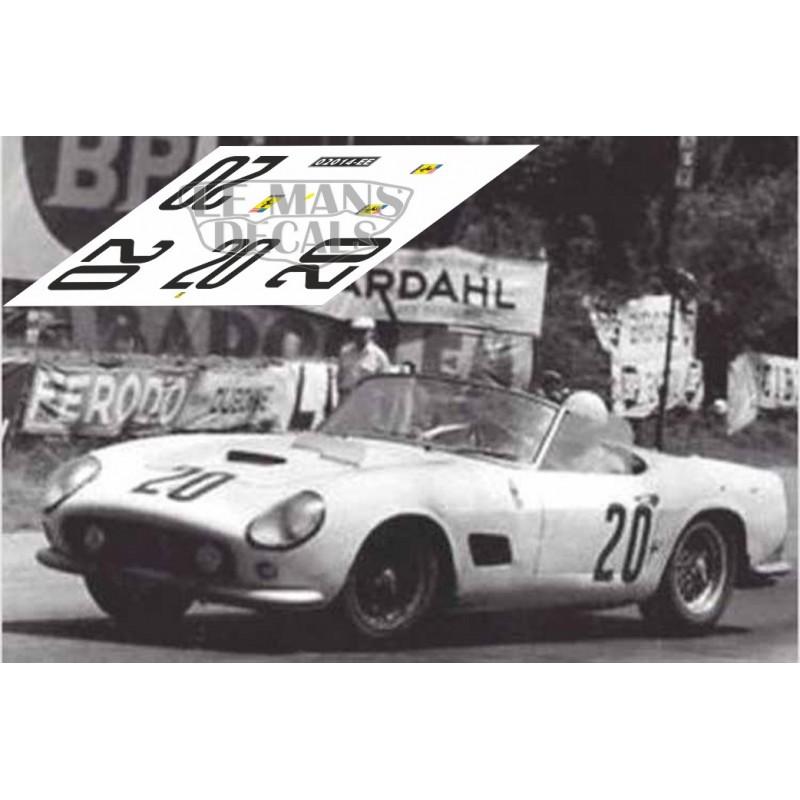 FERRARI 250 SWB LE MANS 1960 DECAL 1//43