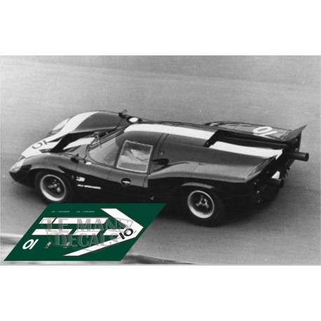Lola T70 Mkiii Le Mans Test 1967 Nº10 Lemansdecals