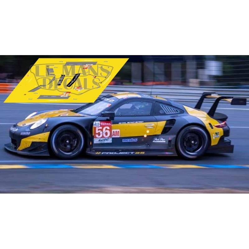Porsche 911 RSR - Le Mans 2018 nº56 - LEMANSDECALS