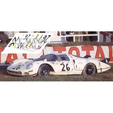 Ferrari 365 P2 Drogo - Le Mans 1967 nº26