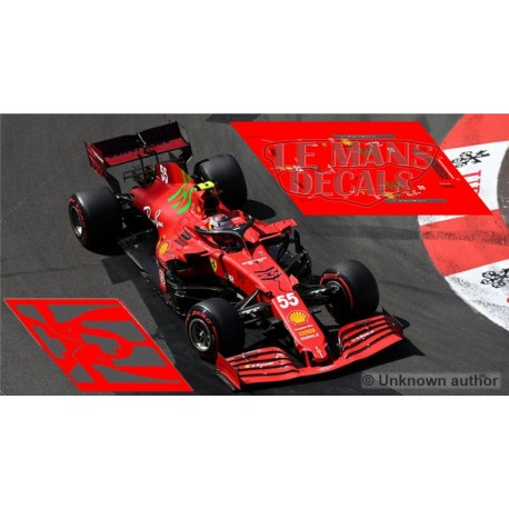 Ferrari SF21 Policar Slot - GP Monaco 2021 nº55 + CARBON