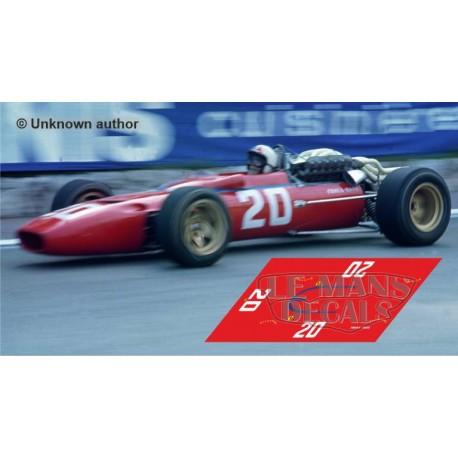 Ferrari 312 F1 - Monaco GP 1967 nº20
