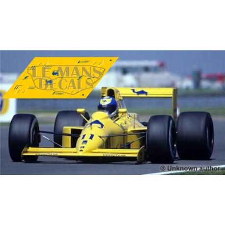 Lotus 102 Scaleauto Slot - British GP 1990 nº11