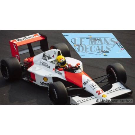McLaren MP4/5B Scaleauto Slot - Italian GP 1990 nº27