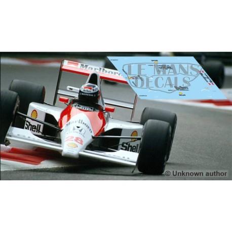 McLaren MP4/5B Scaleauto Slot - GP Italia 1990 nº28