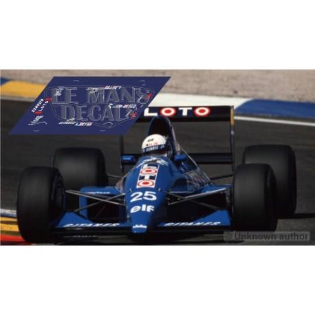 Ligier JS33 Scaleauto Slot - GP Francia 1990 nº25
